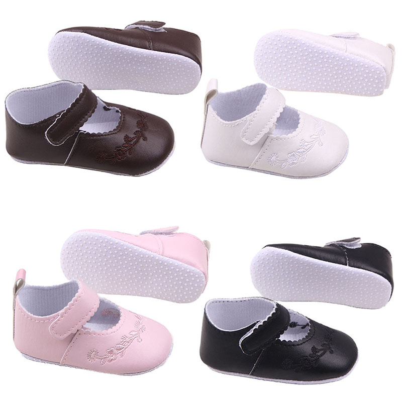 Infant Boy Sneakers Kid Girl Pu Leather Princess Crib Shoes Newborn Comfy Outdoor Baby Shoes