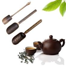 Китайские чайные ложки, медная чайная ложка, ложка, чайные листья, держатель, высокое качество, для китайского чая кунг-фу, аксессуары, инструменты