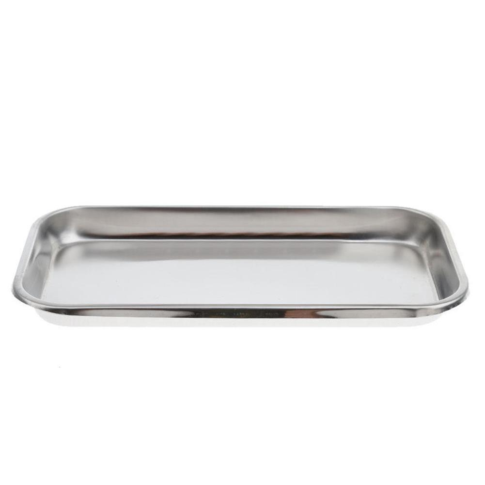 1PC 12cm X 22.5cm Stainless Steel Dental Holder Plate Dish Dentistry Instrument Lab Surgical Tray Equipment Tray Medical Alcohol