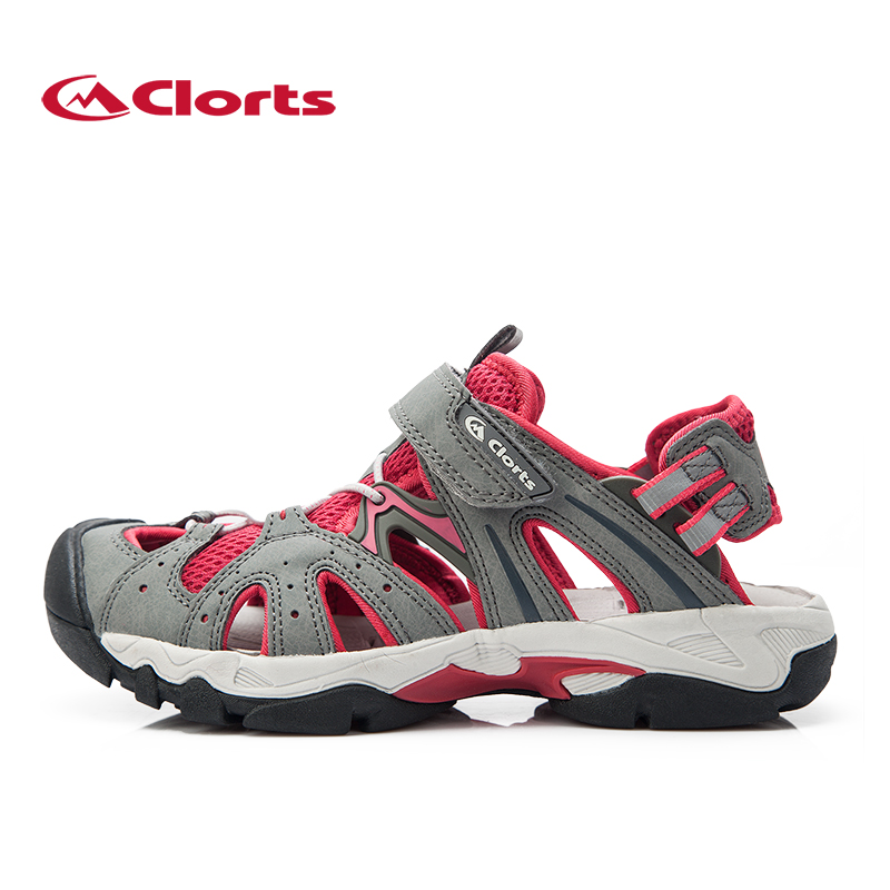 ФОТО Clorts Women Outdoor Sandals PU Beach Shoes Breathable Hiking Sandal Summer Shoes SD-207A