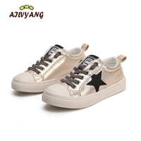 2017 Little Girls Glitter Shoes Child Star White Sneakers Kids Sports Shoes Baby Girls Trainer Flats