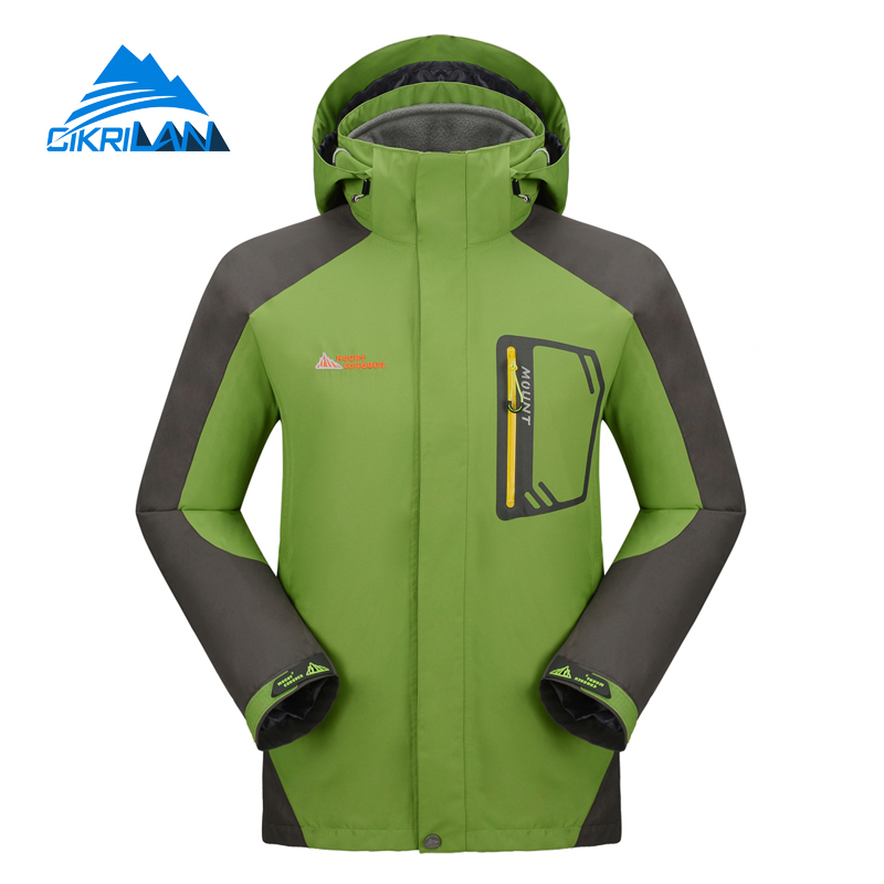 Hot Sale Men Hiking Climbing Clothes Camping Mountain Sports Coat Waterproof Windproof Skiing Winter Outdoor Jacket With Fleece men women winter waterproof mountain clothes climbing hiking overcoats thicken fleece lined warm outwear jacket coat for lovers