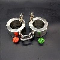Super heavy высота 6 см секс игрушки садо ведомого Секс наручники из нержавеющей стали наручники наручные Ограничения игрушки для взрослых
