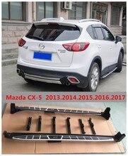Для Mazda CX-5 CX5 2013.2014.2015.2016.2017 Автомобиля Подножки Авто Подножка Бар Педали Высокое Качество Cayenne Стиль Nerf Бары
