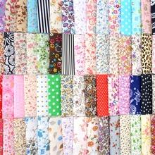 60pcs/set 10x10cm Cotton Fabric Bundle DIY Patchwork Sewing Quilting Tissues Cloth For Needlework Bedding Textile 100pcs 10x10cm square floral cotton fabric diy sewing doll quilting patchwork textile cloth bags crafts