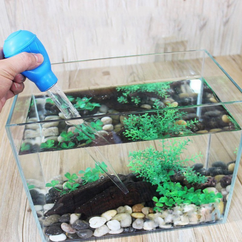 Multi-purpose Mini Water Changer Cleaning Tool Cleaner Dropper Feeder For Small Fish Tank Aquarium Tank Vacuum Water Pump Tools