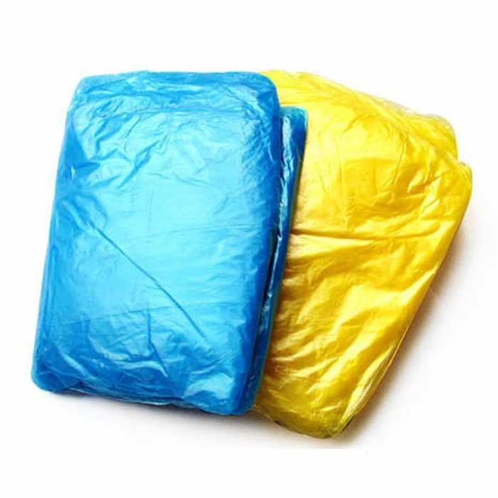 1pc Wegwerp Regenjas Adult Emergency Waterdichte Kap Poncho Reizen Camping Moet Regenjas Unisex Willekeurige Kleur