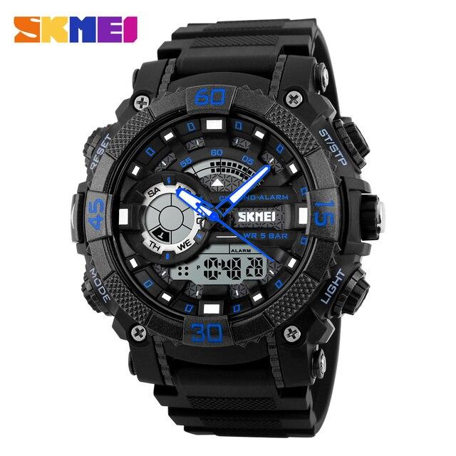 Mens Watches Top Brand Luxury Men Military Watches LED Digital Analog Quartz Watch Sports Wrist watch Waterproof Relogio Clock