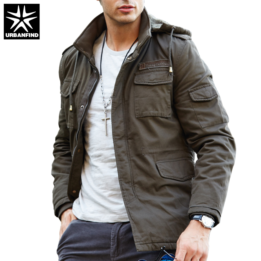 Mens jacket online - Men Casual Hooded Design Jackets Man With Fur Tactical Coats Black Army Green Spring Autumn