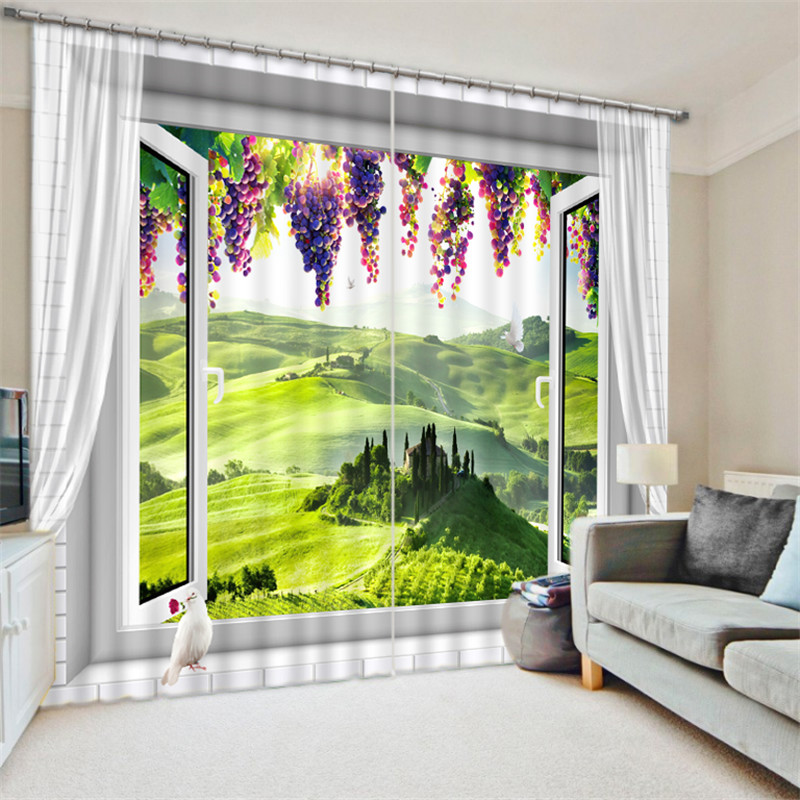 Purple grapes 3D Blackout Window Curtains For Living room Bedding room Hotel/Office Curtain Drapes Cortinas para salaPurple grapes 3D Blackout Window Curtains For Living room Bedding room Hotel/Office Curtain Drapes Cortinas para sala
