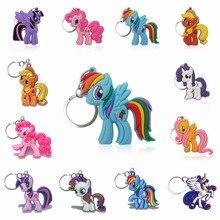 цены 1pcs Key Chains Cartoon Anime Lovely PVC Figure Key Ring Kid Toy Pendant Keychain Key Holder Birthday Gift Trinkets