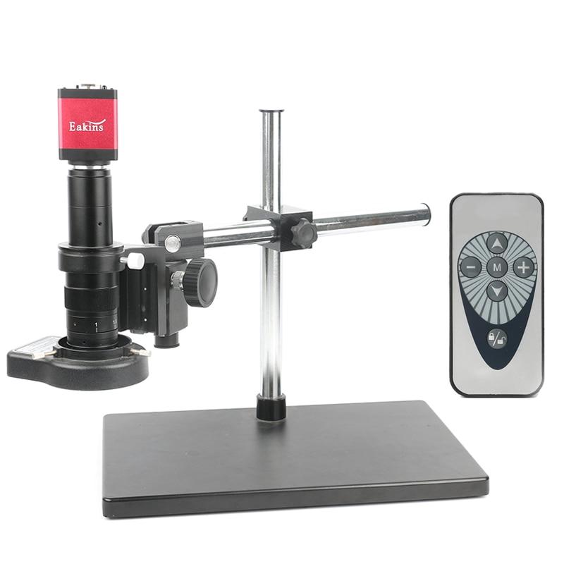 14MP HDMI VGA Video Microscope Camera 180X C MOUNT Lens 144 LED Light Universal bracket For