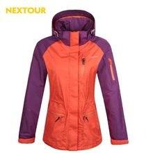 NEXTOUR outdoor Jacket Women 3in1 jacket with pollar fleece Windbreaker Waterproof coat ski hiking camping coat winter
