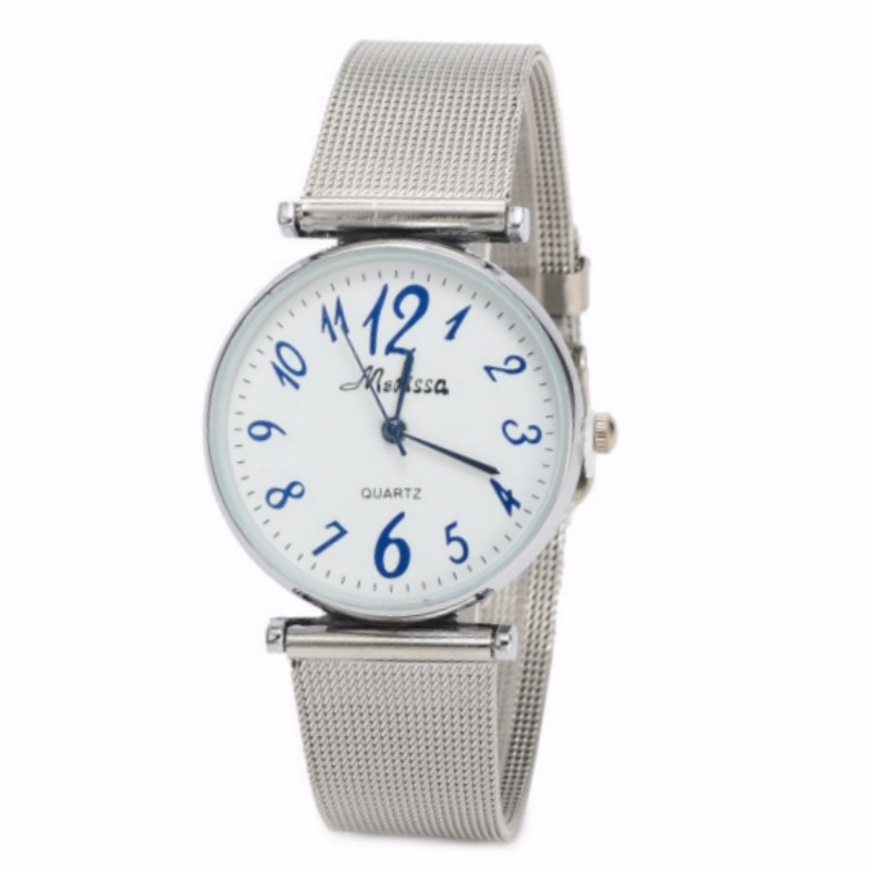 New Silver Mesh Alloy Quartz Lover's Watch Timer Clock Wrist Watches for Women Men Timepiece relogio feminino for Boy Girl