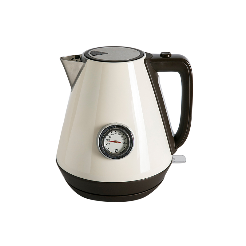 Household Electric Kettle 1800W 1.7L Electric Water Kettle Auto Power-off Protection Water Teapot Stainless Steel Retro Kettles hot insulated double layer proof electric kettle anti dumping stainless steel kettles overheat protection
