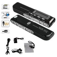 8 기가바이트 디지털 음성 레코더 음성 활성화 USB 디지털 오디오 음성 레코더 Mp3 플레이어 딕 터폰 블랙 gravador 드 voz