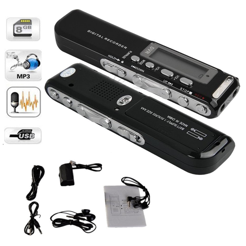 8GB Digital Voice Recorder Voice Activated USB Pen Digital Audio Voice Recorder Mp3 player Dictaphone Black gravador de voz стоимость