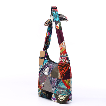 Women Sling Shoulder Bag Cotton Fabric Handbags Hippie Patchwork Hippie Bag Large Messenger Bag Floral Hobo Bag 1
