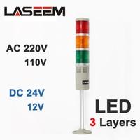 Industriële Multilayer Stack light multi layer LED Signaalzuil voorzichtigheid licht voor machines LTA 505 Alarm lamp 3 layer-in Richtingwijzers van Licht & verlichting op