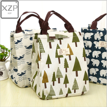 XZP 2019 Waterproof Cotton Lunch Bag for Women kids Men Cooler Box Tote canvas lunch bag Insulation Package Portable