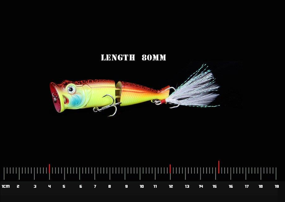 Água superior nadar popper 8cm 12g pesca