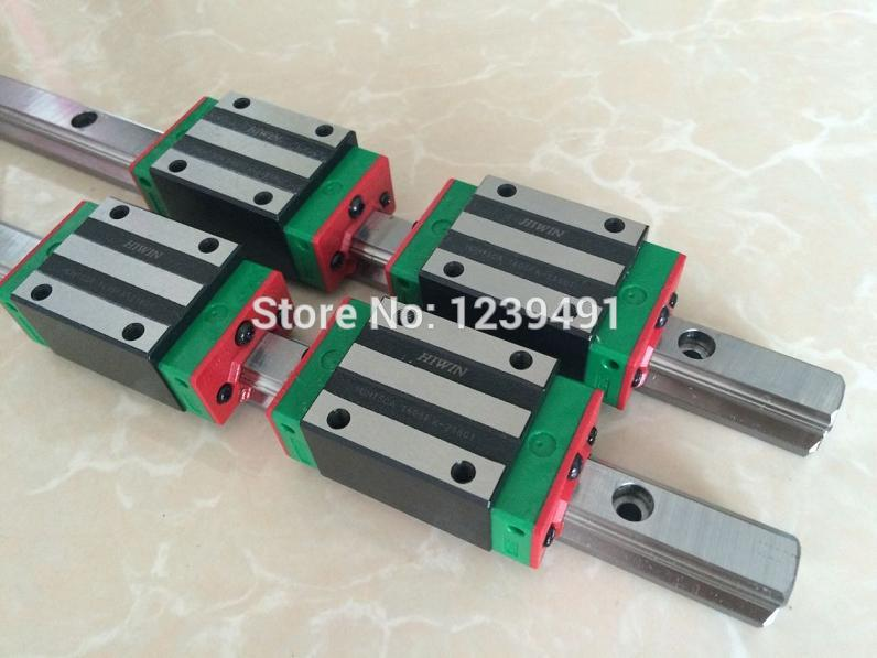 4pcs HIWIN linear rail HGR20- 300mm + 8pcs carriage flange HGW20CA + 2pcs HIWIN linear rail HGR20- 400mm + 4pcs carriage HGH20CA free shipping to argentina 2 pcs hgr25 3000mm and hgw25c 4pcs hiwin from taiwan linear guide rail
