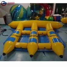 Настроить цвет 6 человек надувные лодки летучей рыбы море спортивные игры, надувные банан три трубы Flyfish воды, оборудование