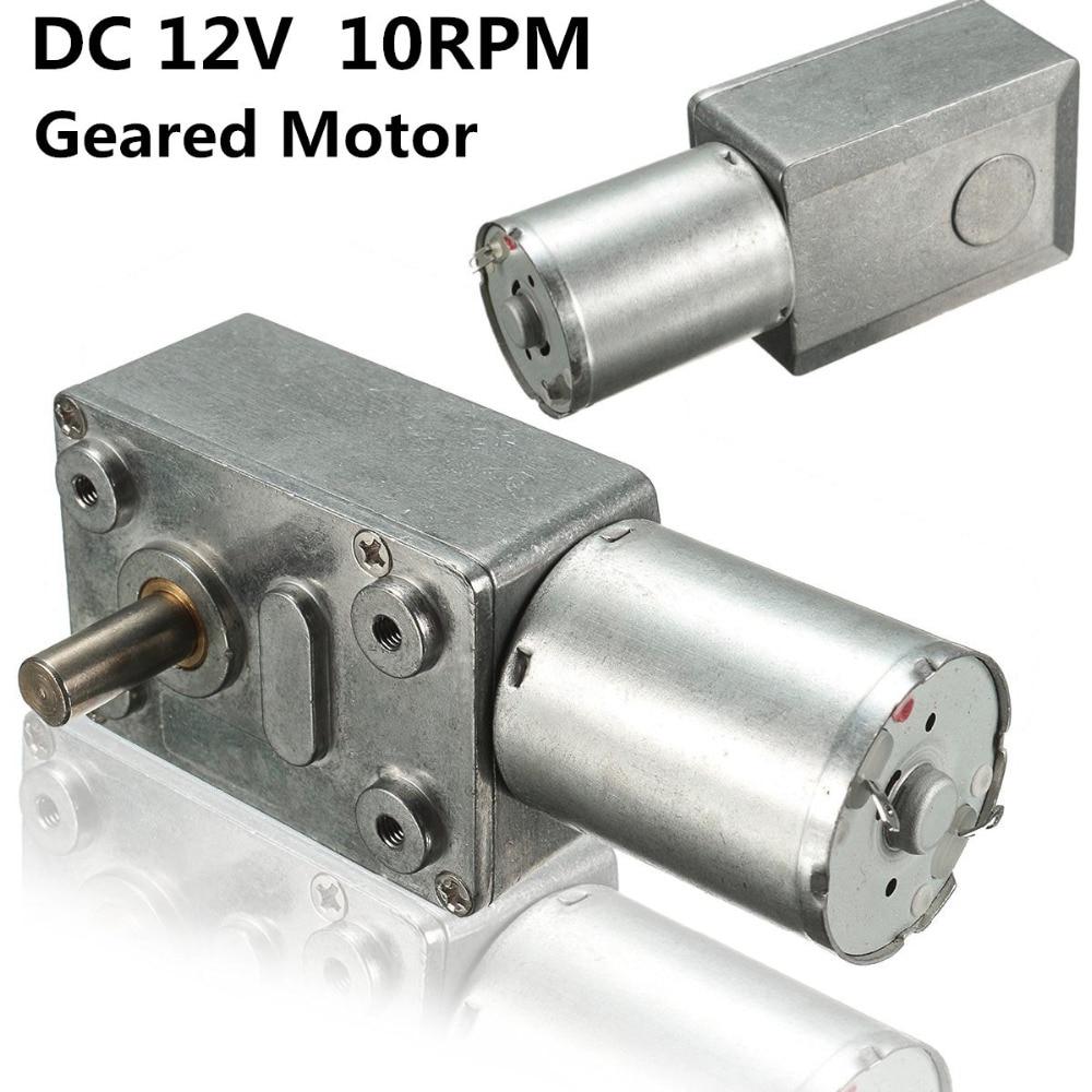 купить New Arrival Motor 12V 10Rpm Reversible High Torque Turbo Worm Geared Motor DC Motors JGY370 High Quality