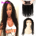 360 Lace Band Frontal Curly Hair Malaysian Virgin Hair Malaysian Kinky Curly Virgin Hair 360 Lace Frontal Closure With Baby Hair