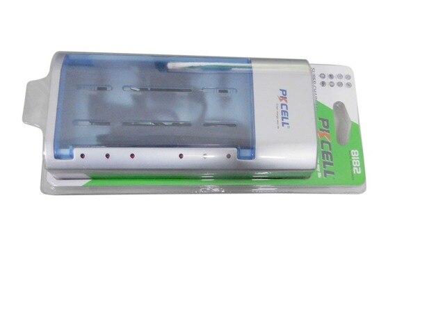 1 Шт. UL/ЕС Plug Стандартный Зарядное Устройство 8182 для 1-4 шт. AA/AAA/C/D или 2 шт. 9 В Аккумуляторная Батарея
