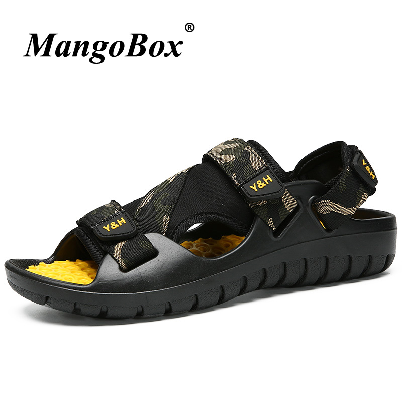 Men Summer Shoes Breathable Sandals Brand Designer Men Outdoor Flat Fashion Sandals For Men Rubber Comfortable Beach Sandals