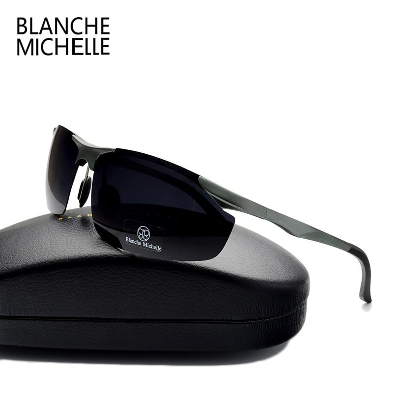 2018 Aluminium Magnesium Kacamata Pria Terpolarisasi UV400 Mengemudi - Aksesori pakaian - Foto 2