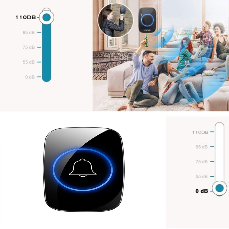 New Home Doorbell Intelligent Wireless Waterproof 300M Remote Smart