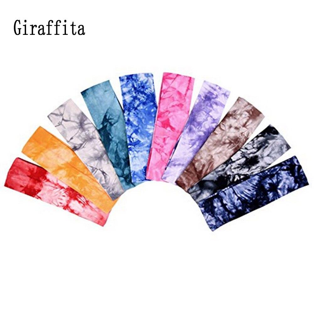 Giraffita Bos Print Yoga Hoofdbanden Katoen Stretch Hoofdbanden Sport Meisje Bands Bandage Gom Voor Outdoor Running
