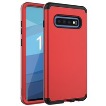 For Samsung Galaxy S10 Case Shockproof Silicone PC Phone Case for Samsung Galaxy S10 Plus Full Protective 3 in 1 Shell Case protective silicone case for samsung n7100 translucent purple