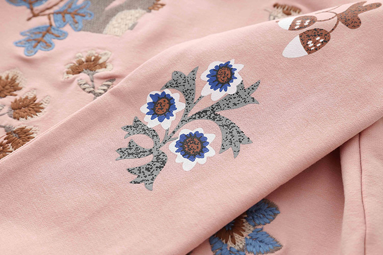 HTB1zOI8hiAKL1JjSZFoq6ygCFXac - Kids Girls T Shirts Autumn 2018 Fashion Embroidery Pattern Kids T Shirt Long Sleeve Simple O-neck Children Clothing B0699