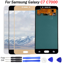 For samsung galaxy c7 lcd replacement SM-C7000 Super AMOLED Display Touch Screen Digitizer Assembly C7000 LCD screen C7 ekran шифтер shimano nexus c7000 5 скоростей для cj c7000 оплетка 2100 мм eslc70005210la