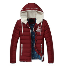 New Brand Male Men's Down Jacket Coat Letter Print Hoodied Hooded Winter Coat Men Thicken Outwear Parkas Plus Size 3XL Y1942
