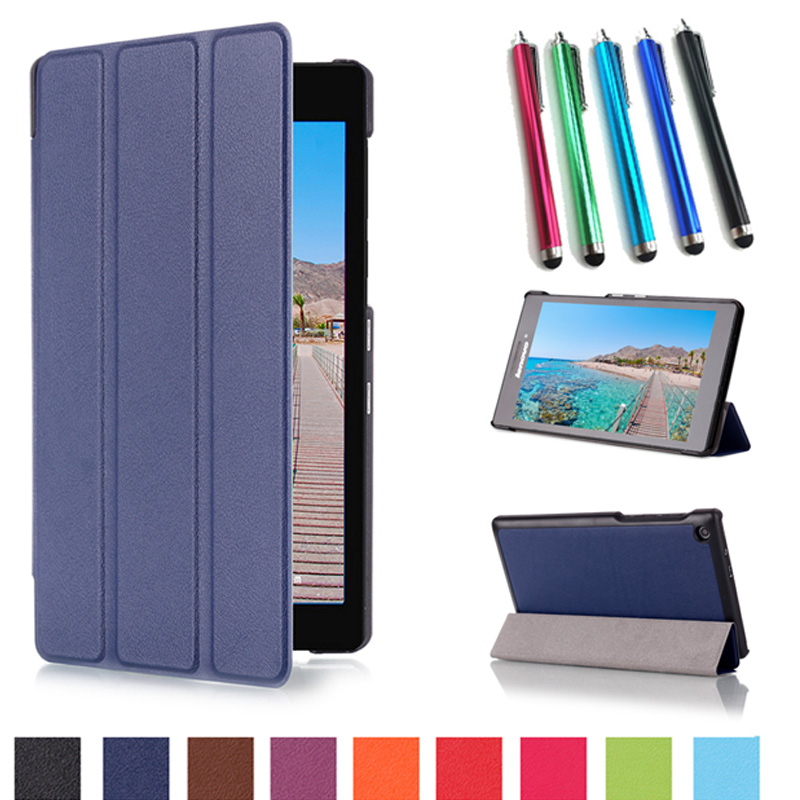 High Quality Case for Lenovo Tab 2 Tab2 A7-30 A7-30TC A7-30HC A7-30 DC 7.0 Protective Leather Stand Flip Smart Case Cover +gift for lenovo tab 2 a7 30 2015 tablet pc protective leather stand flip case cover for lenovo a7 30 screen protector stylus pen