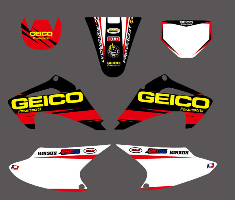GRAPHICS&BACKGROUNDS DECAL <font><b>STICKER</b></font> <font><b>Kits</b></font> for <font><b>Honda</b></font> CRF150 CRF230 CRF150F CRF230F 4 STROKES 2003-2007 CRF <font><b>150</b></font> 150F 230 230F image