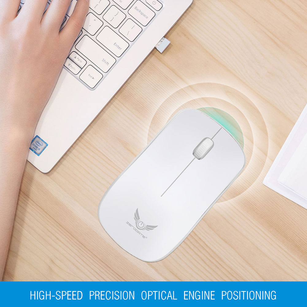 2.4GHz 1600DPI Optical Wireless Ergonomic Mouse Gamer Gaming Mice for Office PC Laptop Computer EM88