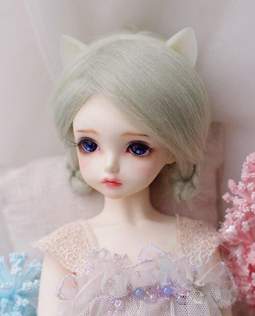 Independent Bjd Doll Fur Wig For 1/3 1/4 1/6 Bjd Doll Rime Green Long Straight Wigs 9-10cm 12cm 14cm 16-17cm 18-19cm 20-21cm 22-23cm To Adopt Advanced Technology