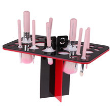 Acrylic Makeup Foundation Brushes Dryer Stable Organizer Holder Stander Hanger Makeup Brushes Stand Air Brush Rack