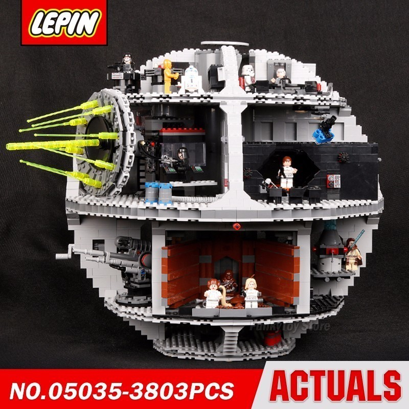 Lepin 05035 Death Star 10188 Star Series Wars Model Building Block Brick Kits Compatible Assembling Toys Gift lepin 05035 star series death wars 3804pcs building bricks toys kits compatible with legoinglys 10188 educational gift for boy