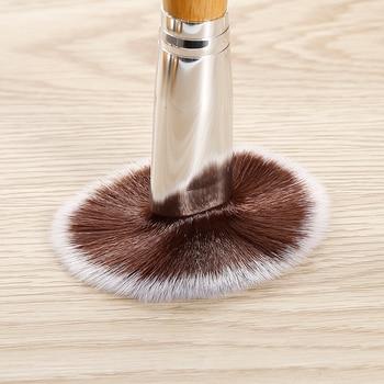 11 PCS Bamboo Handle Makeup Brushes Powder Concealer Foundation Brush Facial Mask Beauty Face Make up Brush Cosmetics Tools Set 6