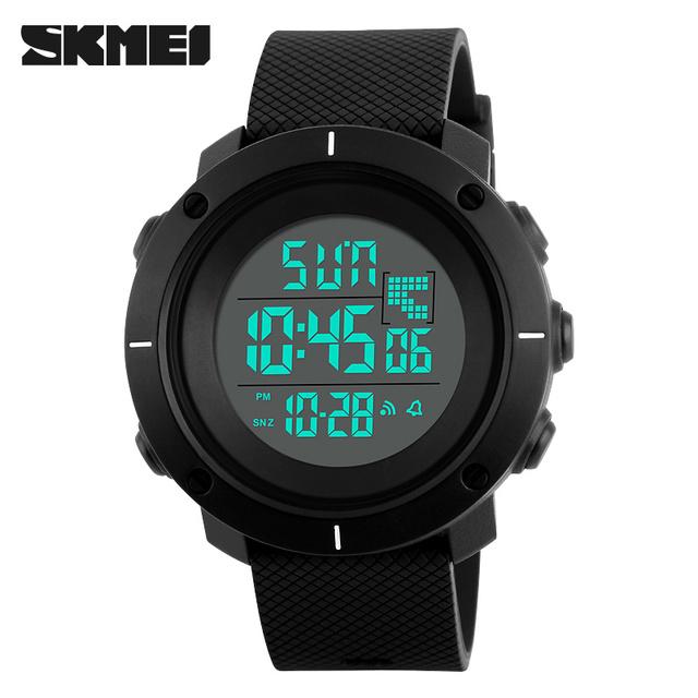 2016 SKMEI moda Relógios Digitais homens esportes 50 M À Prova D' Água Profissional grande dial horas militares relógios de pulso Luminoso