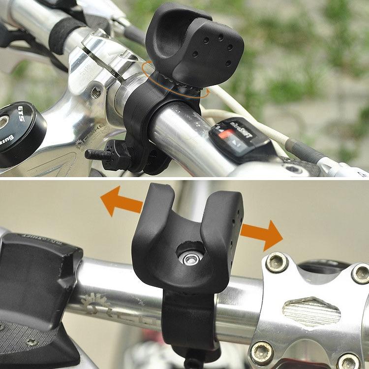 New Universal Black Rubber Bicycle Bike Mount Bracket Clip Clamp Holder For LED Light Lamp Flashlight Torch P25