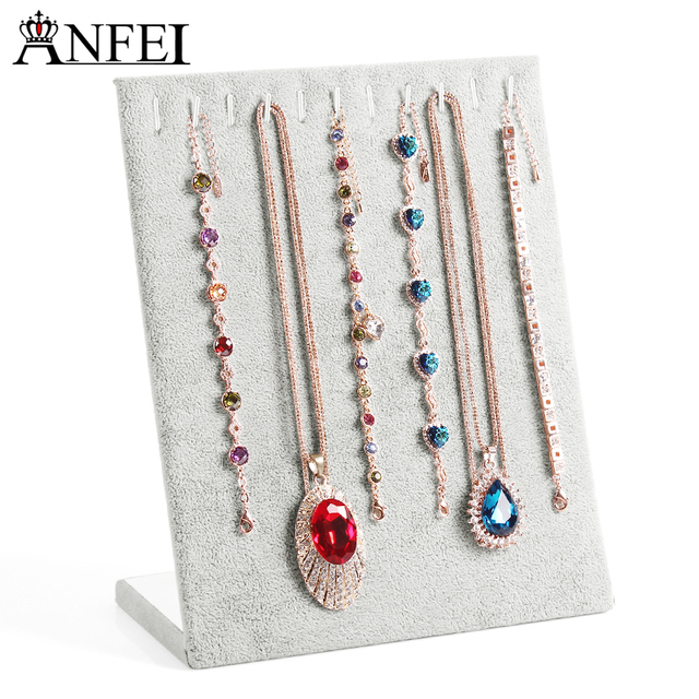 ANFEI Free shipping Necklace display shelf jewelry organizer jewelry