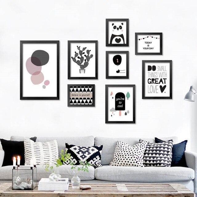 Moderne Nordic Art Prints Posters leuke carton dieren op canvas muur ...