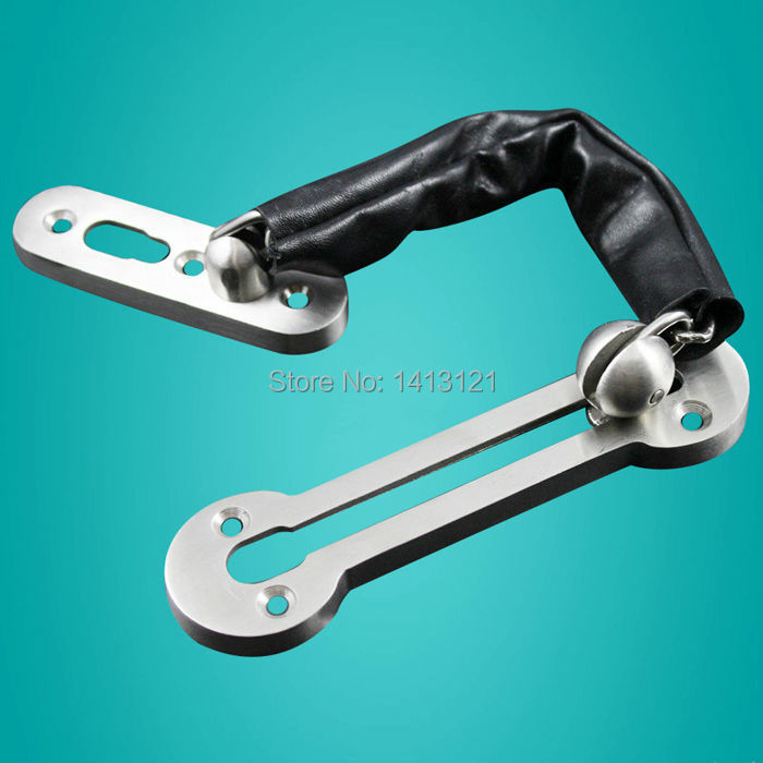 free shipping 304 stainless steel Anti-theft deduction  Security chain hotel home door bolt lock household hardware part latch 2pcs set stainless steel 90 degree self closing cabinet closet door hinges home roomfurniture hardware accessories supply
